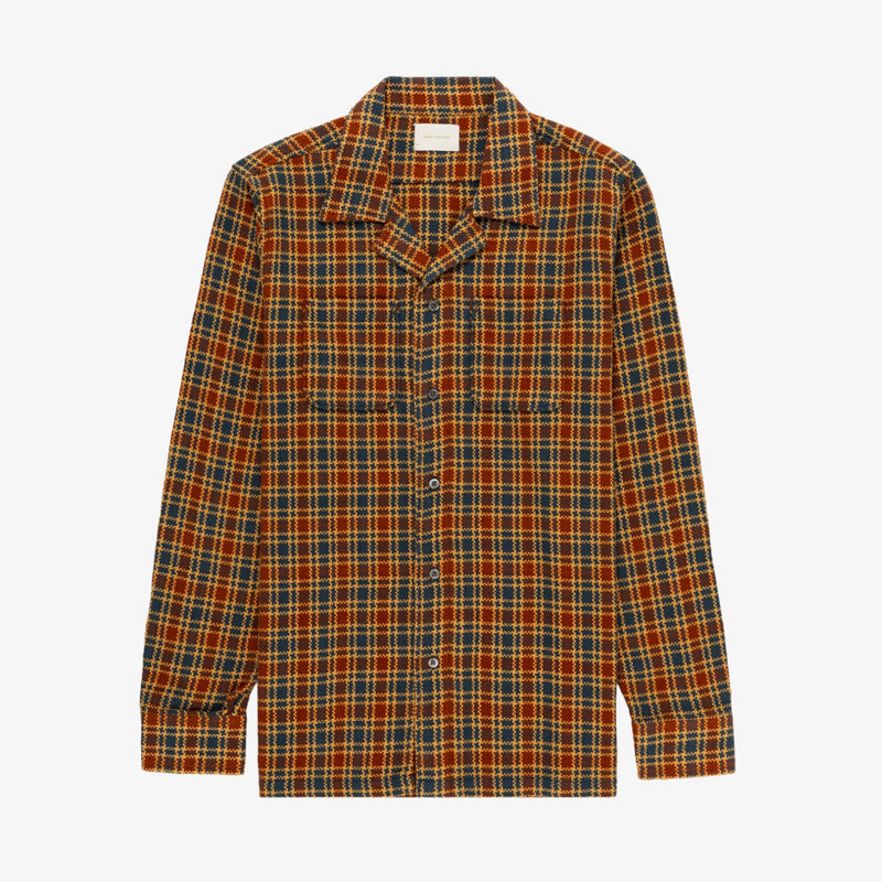 Woven Plaid Leisure Shirt