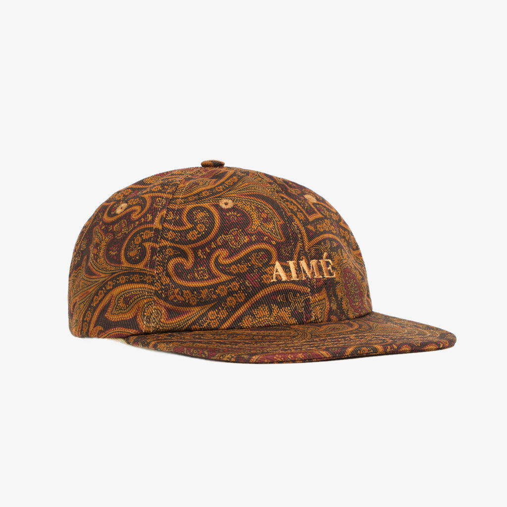 PAISLEY DENIM HAT - BURGUNDY - Hats Aimé Leon Dore