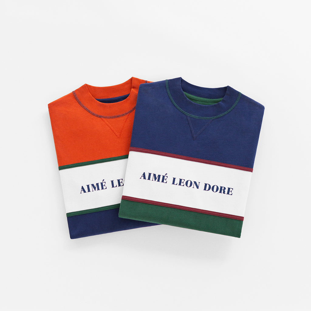 COLOR BLOCKED LOGO CREW-GREEN - Sweatshirt Aimé Leon Dore