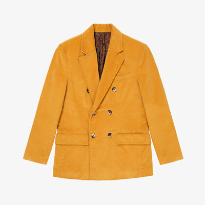 DOUBLE BREASTED CORDUROY JACKET-YELLOW - Outerwear Aimé Leon Dore
