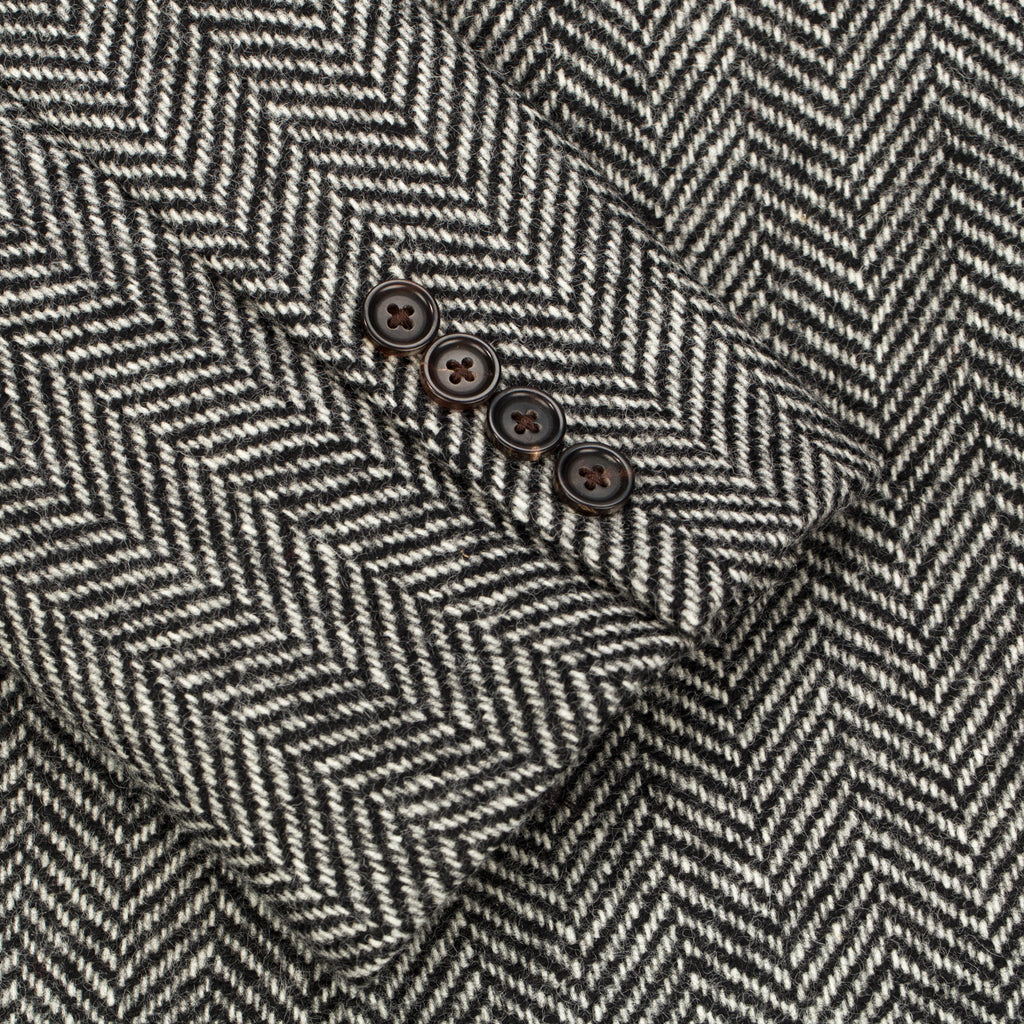 Thermal-Lined Top Coat - Herringbone - Outerwear Aimé Leon Dore