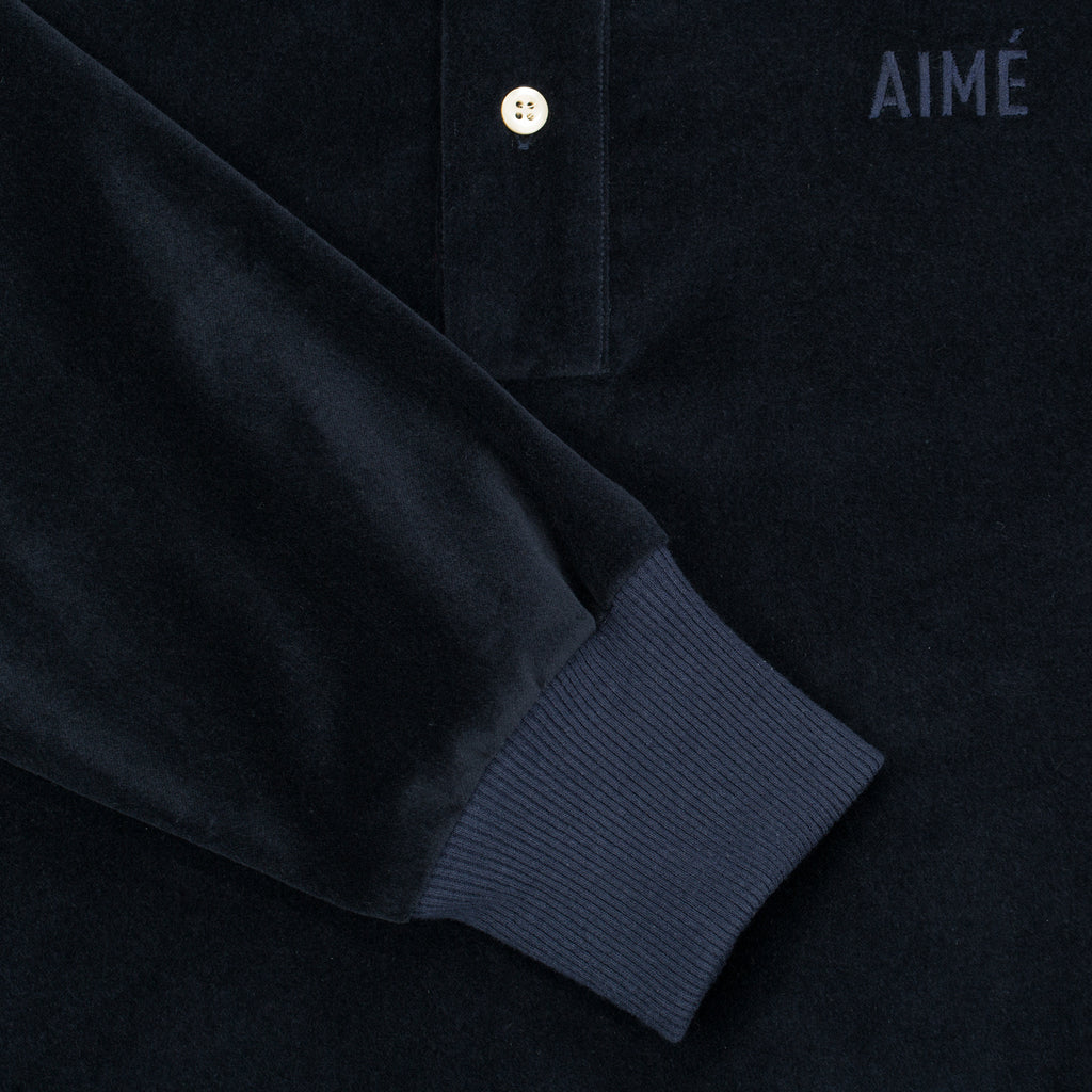 Velveteen Pull Over - Dark Navy
