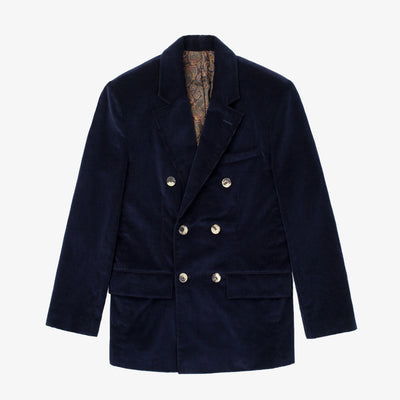 DOUBLE BREASTED CORDUROY JACKET-NAVY - Outerwear Aimé Leon Dore