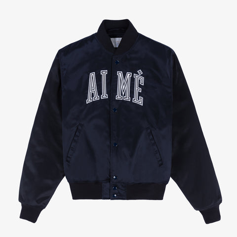 Satin Team Jacket - Dark Navy