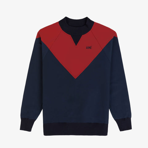 Water-Repellent Pull Over - Navy/Red