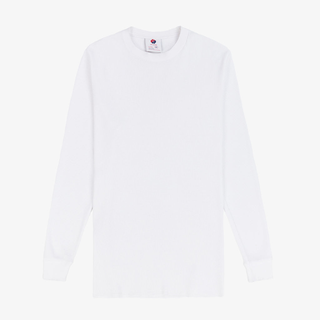 LS Distressed Waffle Thermal - White - Shirt Aimé Leon Dore