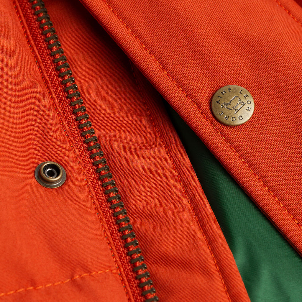 HOODED DOWN JACKET-ORANGE - Outerwear Aimé Leon Dore