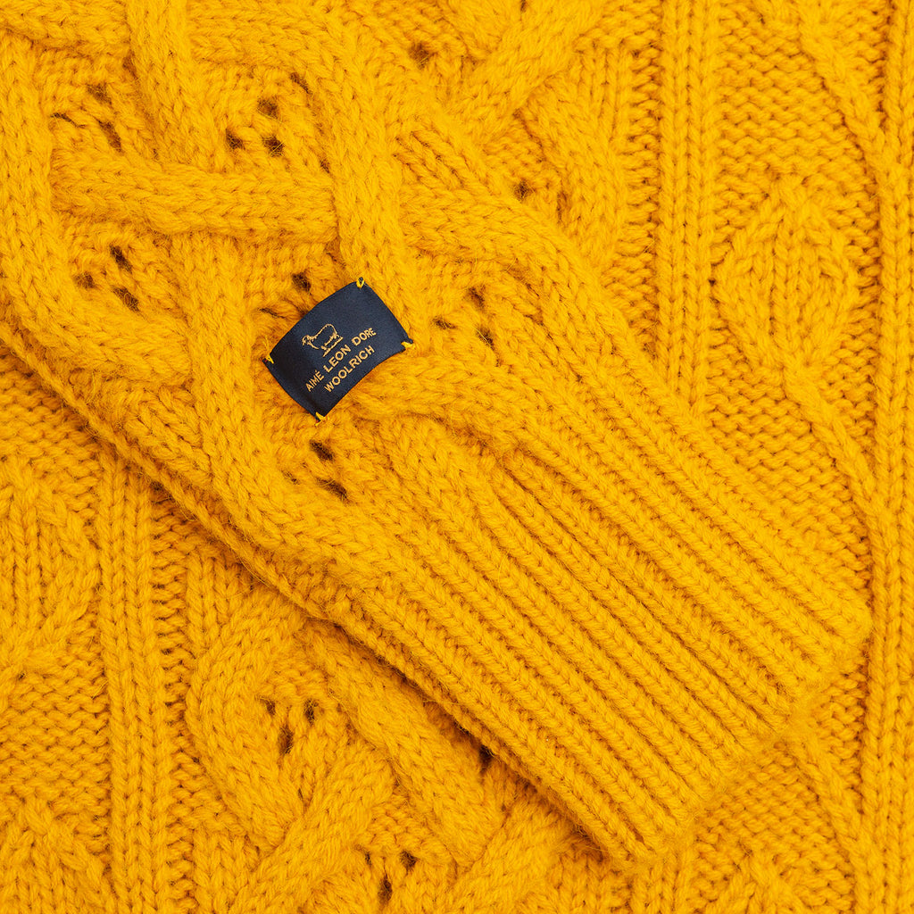 ... FISHERMAN KNIT CARDIGAN-YELLOW - Sweaters Aimé Leon Dore ... 241bfe988