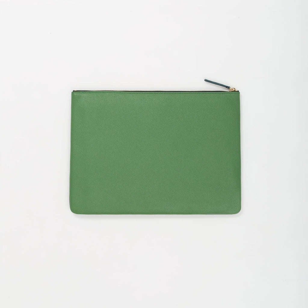 LEATHER ITEM POUCH - GREEN