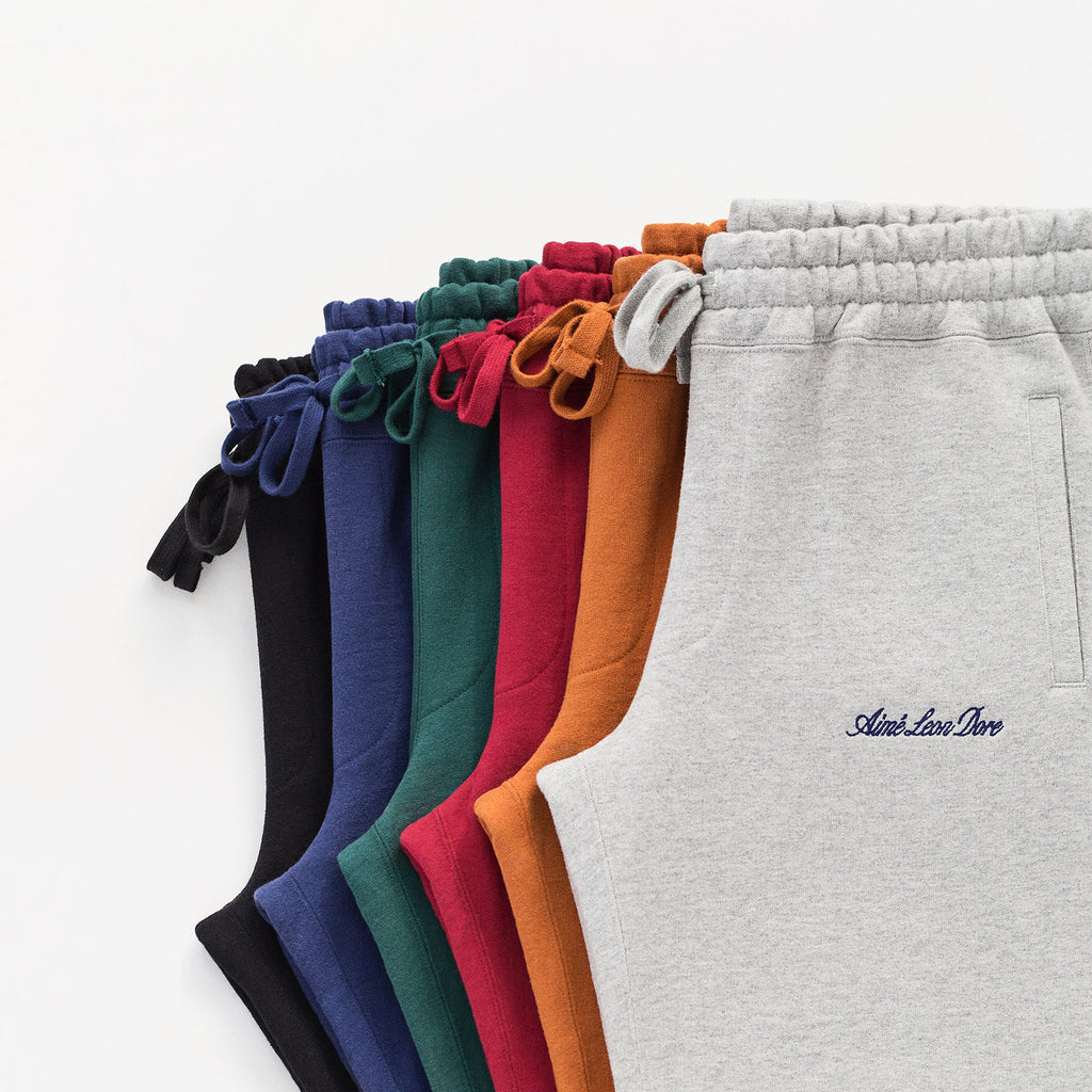 ALD LOGO SWEATS - BLACK - Sweatpants Aimé Leon Dore