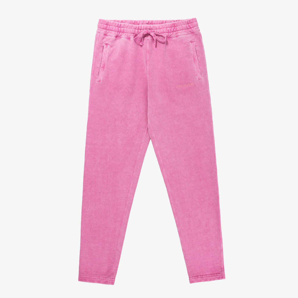 SAND WASHED SWEATPANTS - PINK