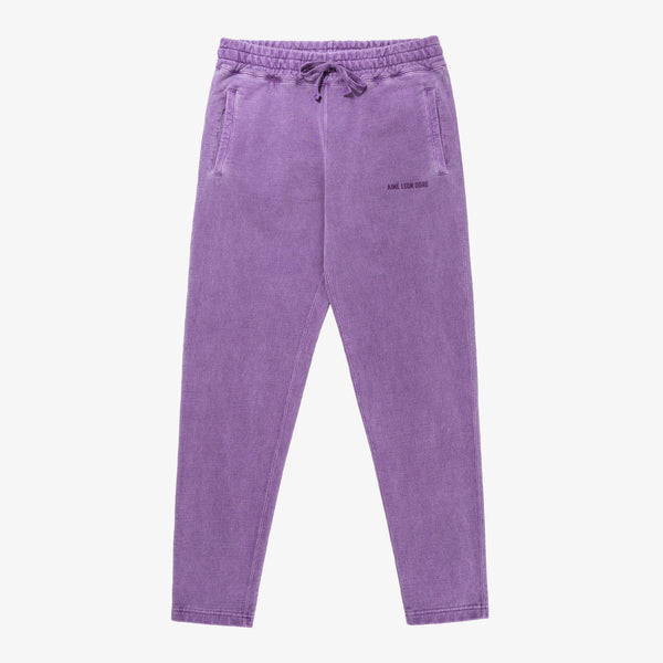 SAND WASHED SWEATPANTS - PURPLE