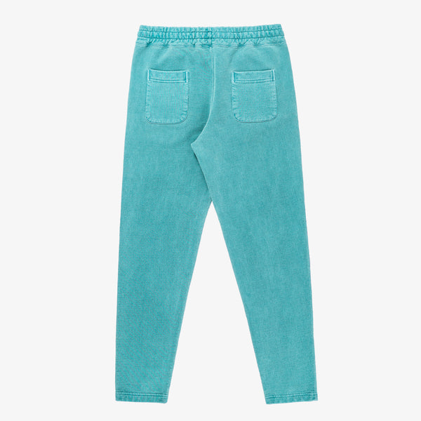 SAND WASHED SWEATPANTS - GREEN