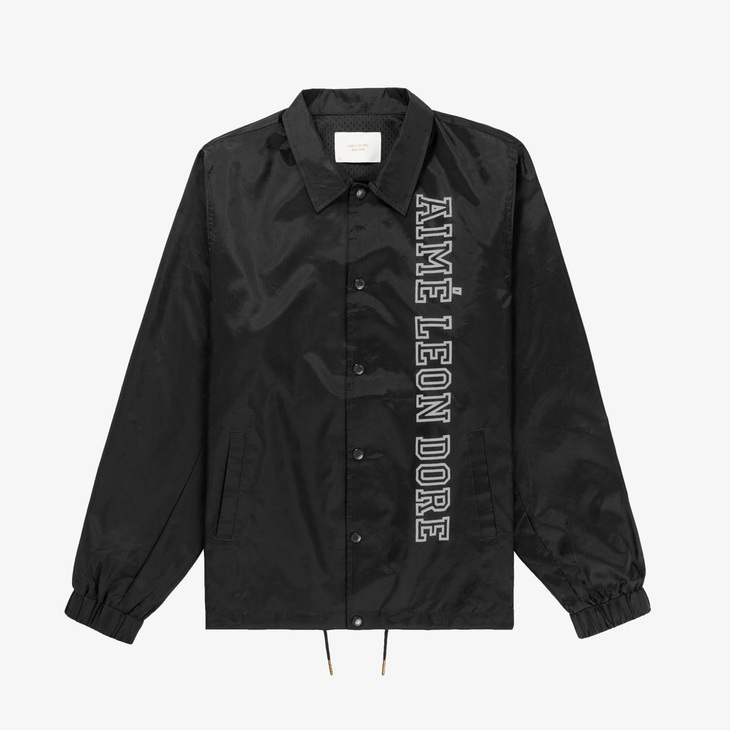 NYLON COACH JACKET - BLACK