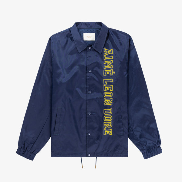 NYLON COACH JACKET - NAVY