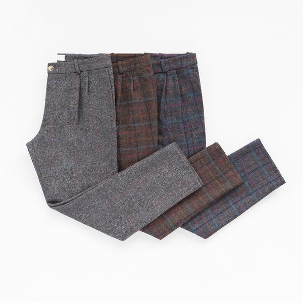 PLEATED WOOL TROUSER