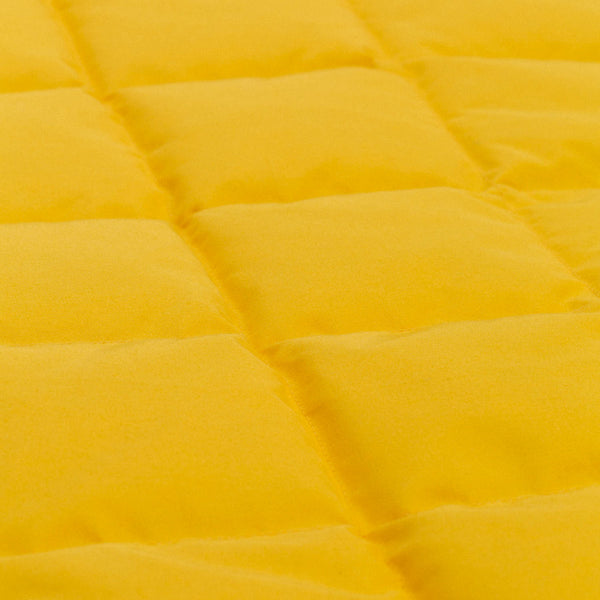 QUILTED DOWN PUFFER - YELLOW