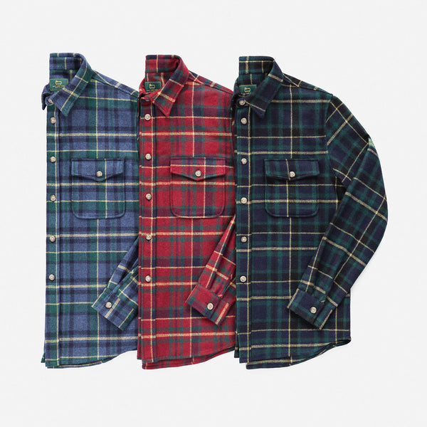 WOOL FLANNEL BUTTON DOWN