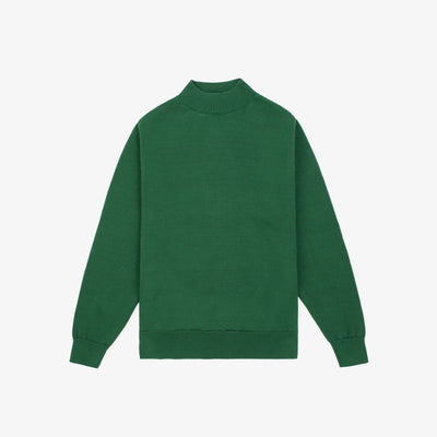 LIGHT-WEIGHT MOCKNECK KNIT-GREEN