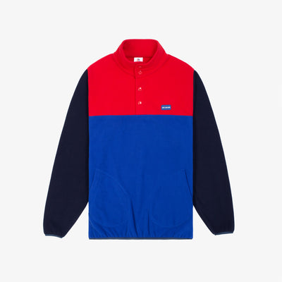 MICRO FLEECE PULL OVER-RED
