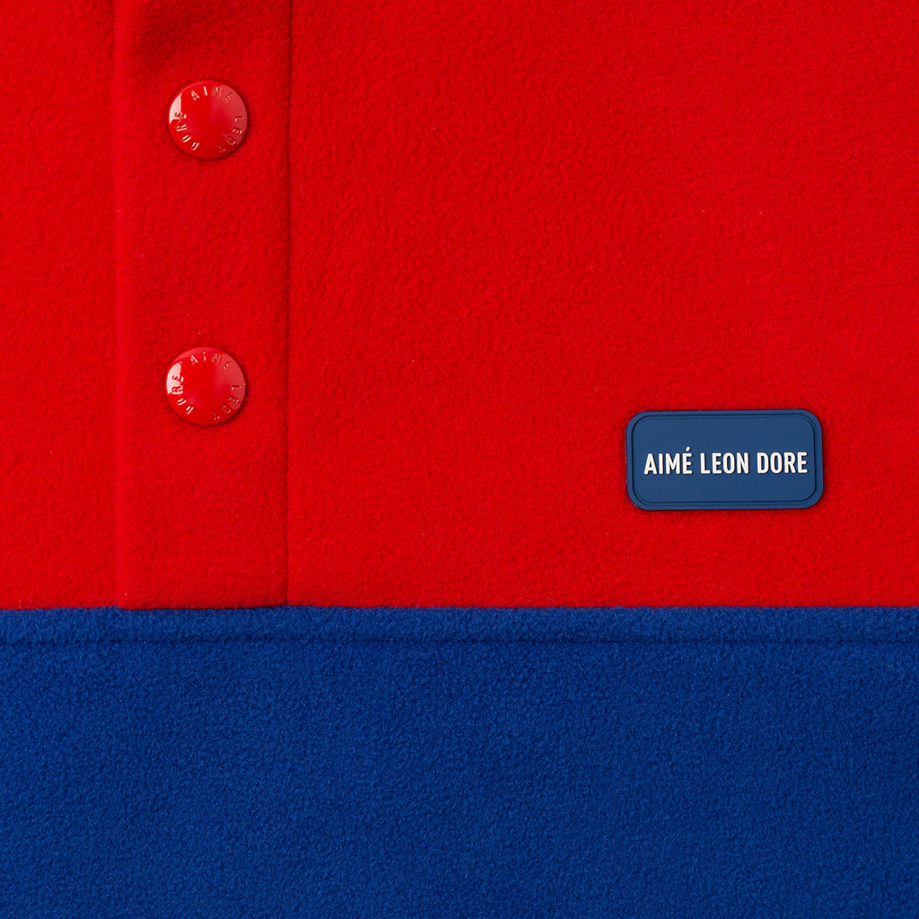 MICRO FLEECE PULL OVER-RED - Shirt Aimé Leon Dore