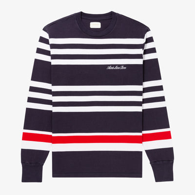 LS TRIPLE STRIPE LOGO TEE