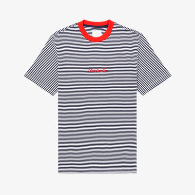 STRIPED TEE - NAVY