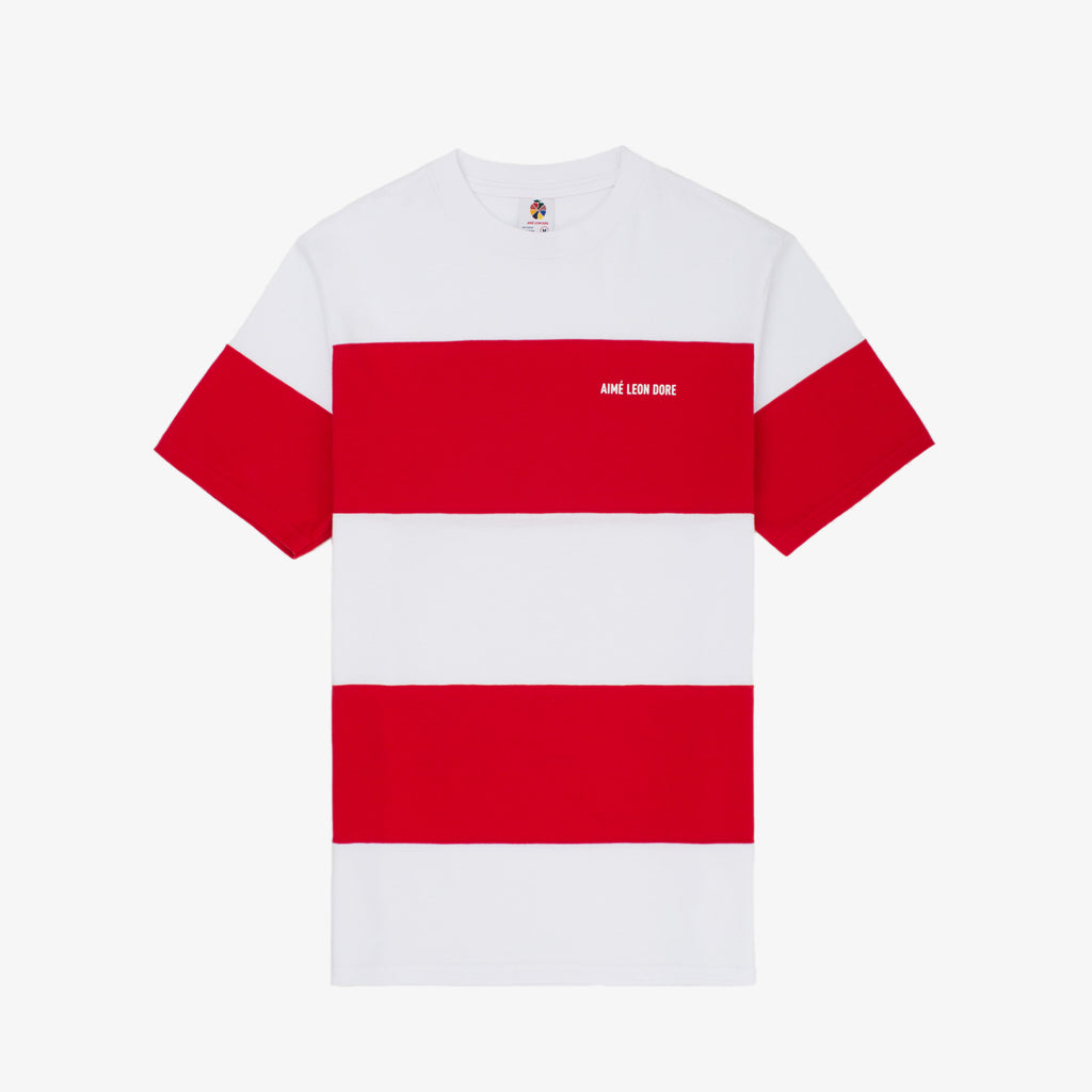 Striped Tee - Red - Shirt Aimé Leon Dore