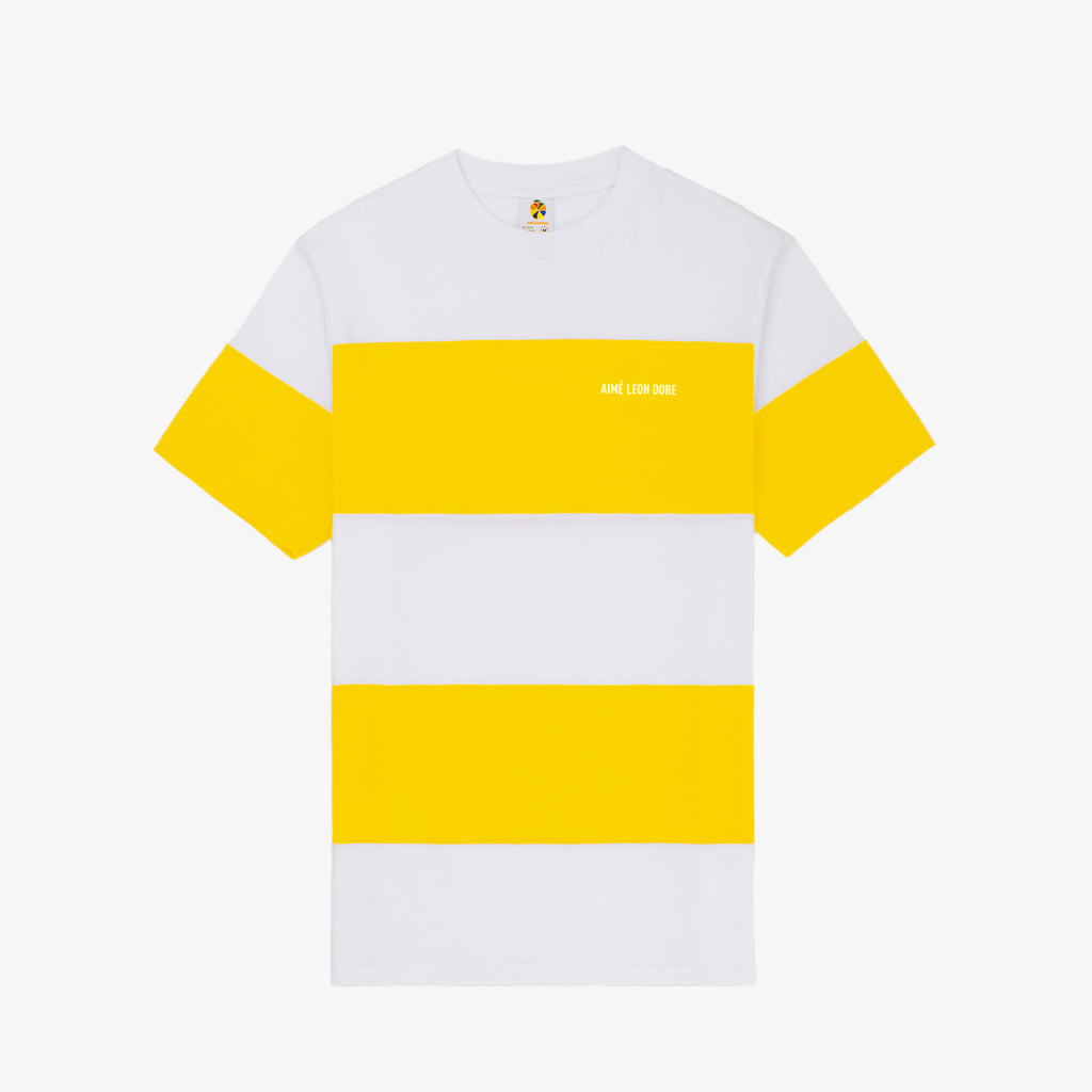 Striped Tee - Yellow - Shirt Aimé Leon Dore