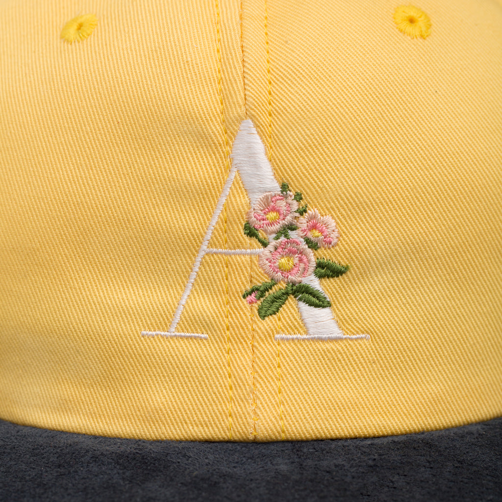 Suede Brim Floral Hat - Yellow - Accessories Aimé Leon Dore