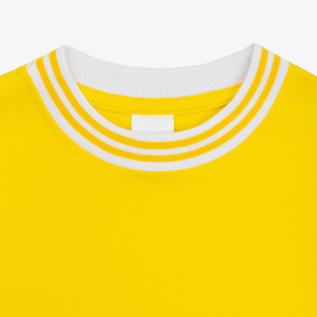 Ribbed Collar Tee - Yellow - Shirt Aimé Leon Dore