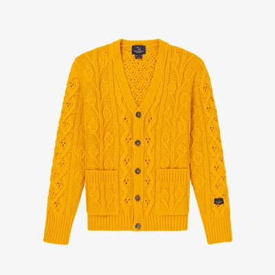 FISHERMAN KNIT CARDIGAN-YELLOW - Sweaters Aimé Leon Dore