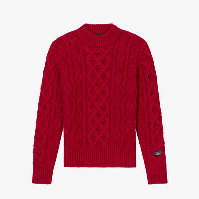 FISHERMAN KNIT SWEATER-MAROON - Sweaters Aimé Leon Dore