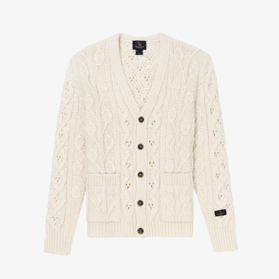 FISHERMAN KNIT CARDIGAN-CREAM - Sweaters Aimé Leon Dore 652b91518