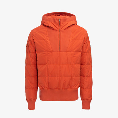 QUILTED DOWN PULLOVER JACKET-ORANGE