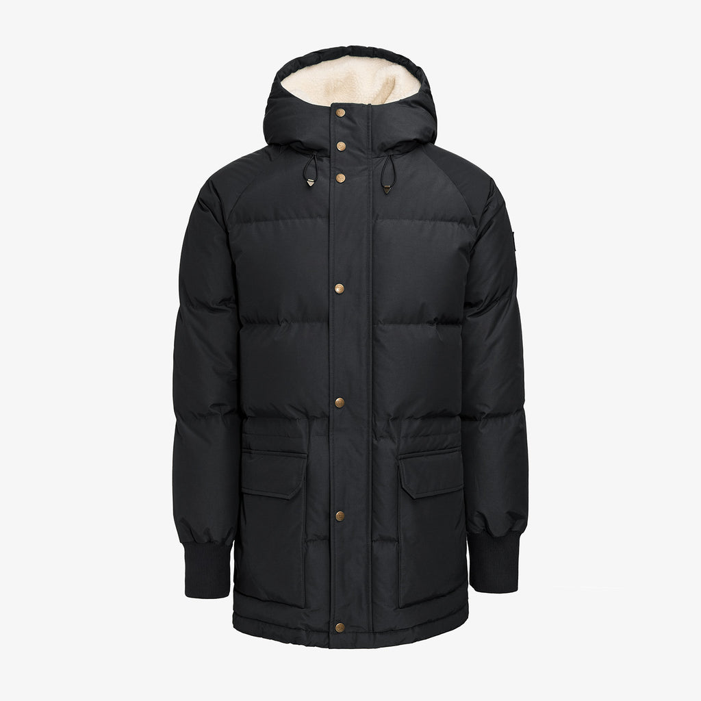 HOODED DOWN JACKET-BLACK - Outerwear Aimé Leon Dore