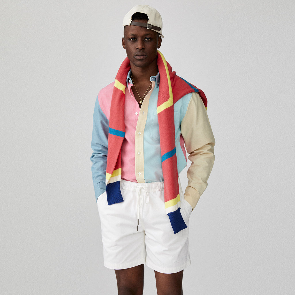 COLOR BLOCKED OXFORD SHIRT - PINK - Woven Shirts Aimé Leon Dore