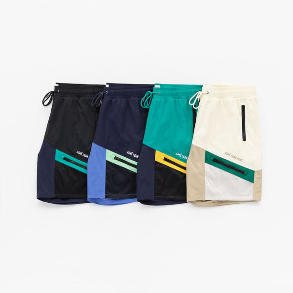 COLOR BLOCKED HIKING SHORTS