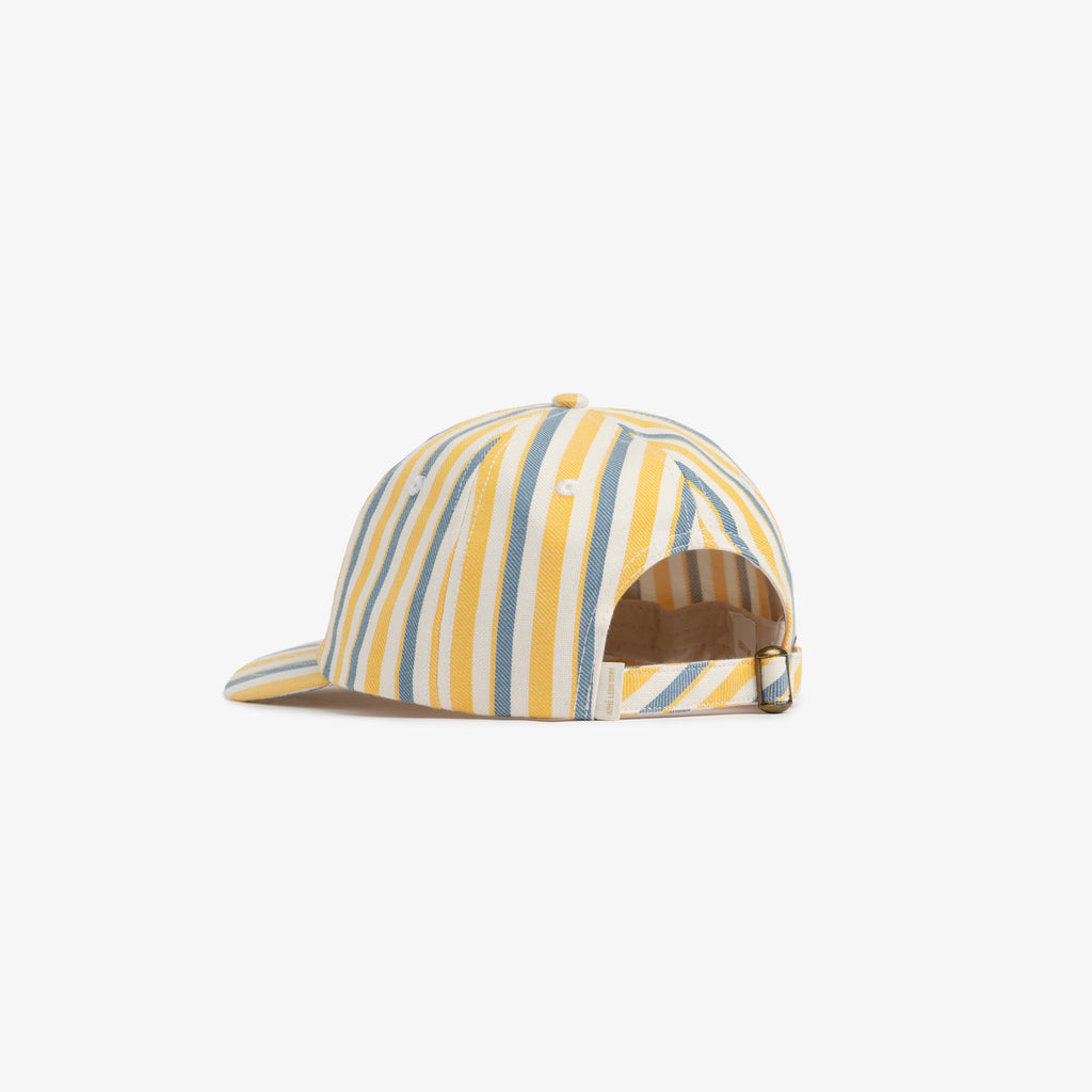 STRIPED COTTON 6-PANEL