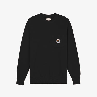 POCKET CREWNECK-BLACK - Sweatshirt Aimé Leon Dore