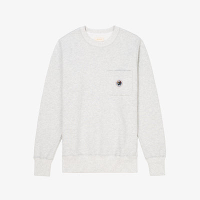 POCKET CREWNECK-GREY - Sweatshirt Aimé Leon Dore