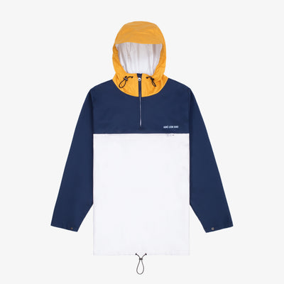 PULL OVER ANORAK - NAVY/YELLOW/WHITE - Outerwear Aimé Leon Dore