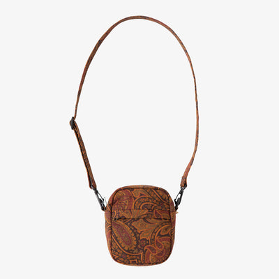 PAISLEY DENIM SHOULDER BAG - BURGUNDY - Bags Aimé Leon Dore