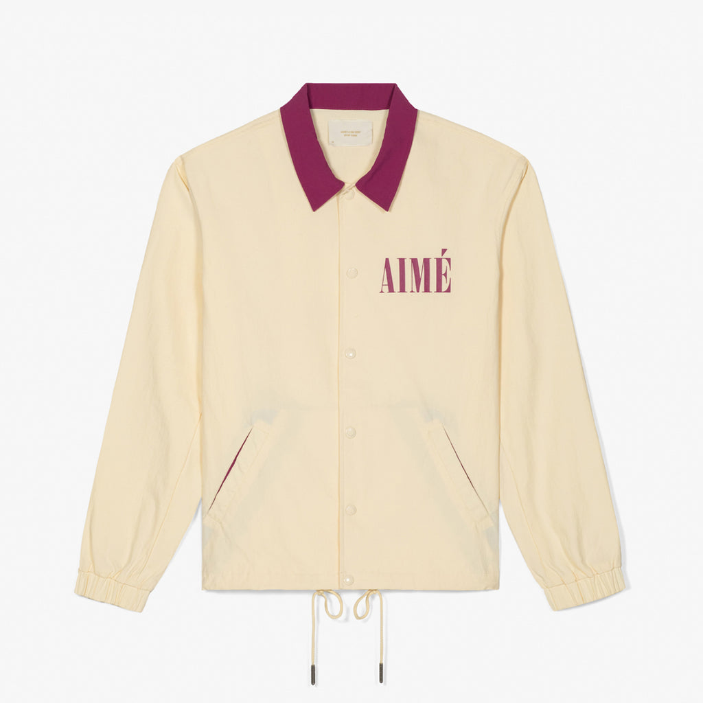 COACH JACKET - CREAM - Outerwear Aimé Leon Dore
