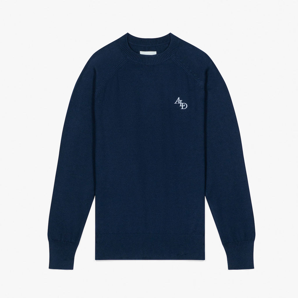 MONOGRAM KNIT SWEATER - NAVY