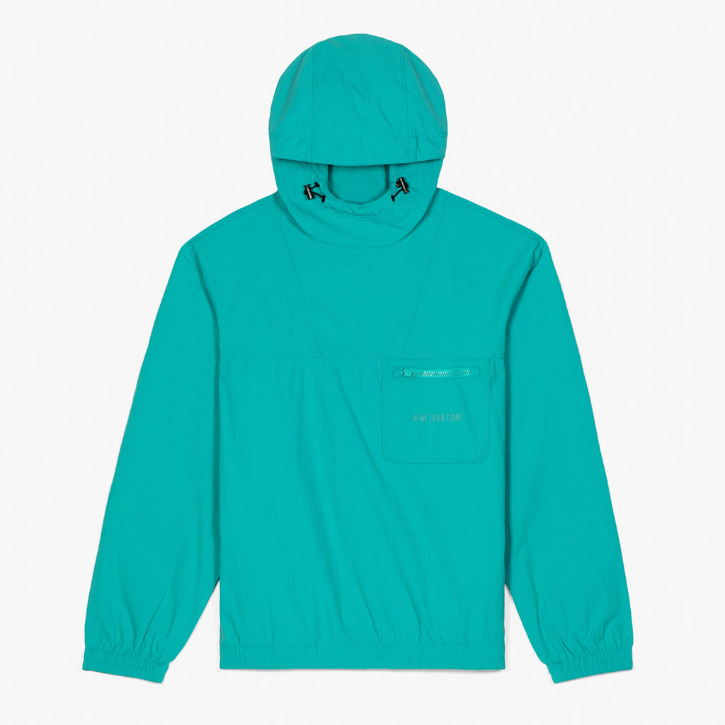 HOODED ANORAK JACKET - TEAL - Outerwear Aimé Leon Dore