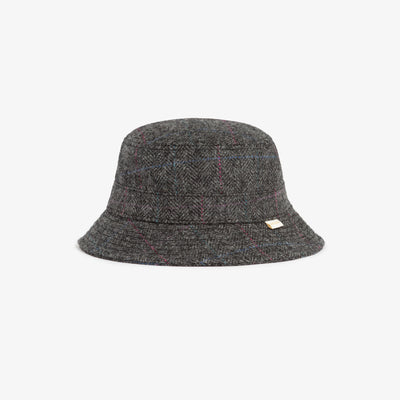 PLAID WOOL BUCKET HAT