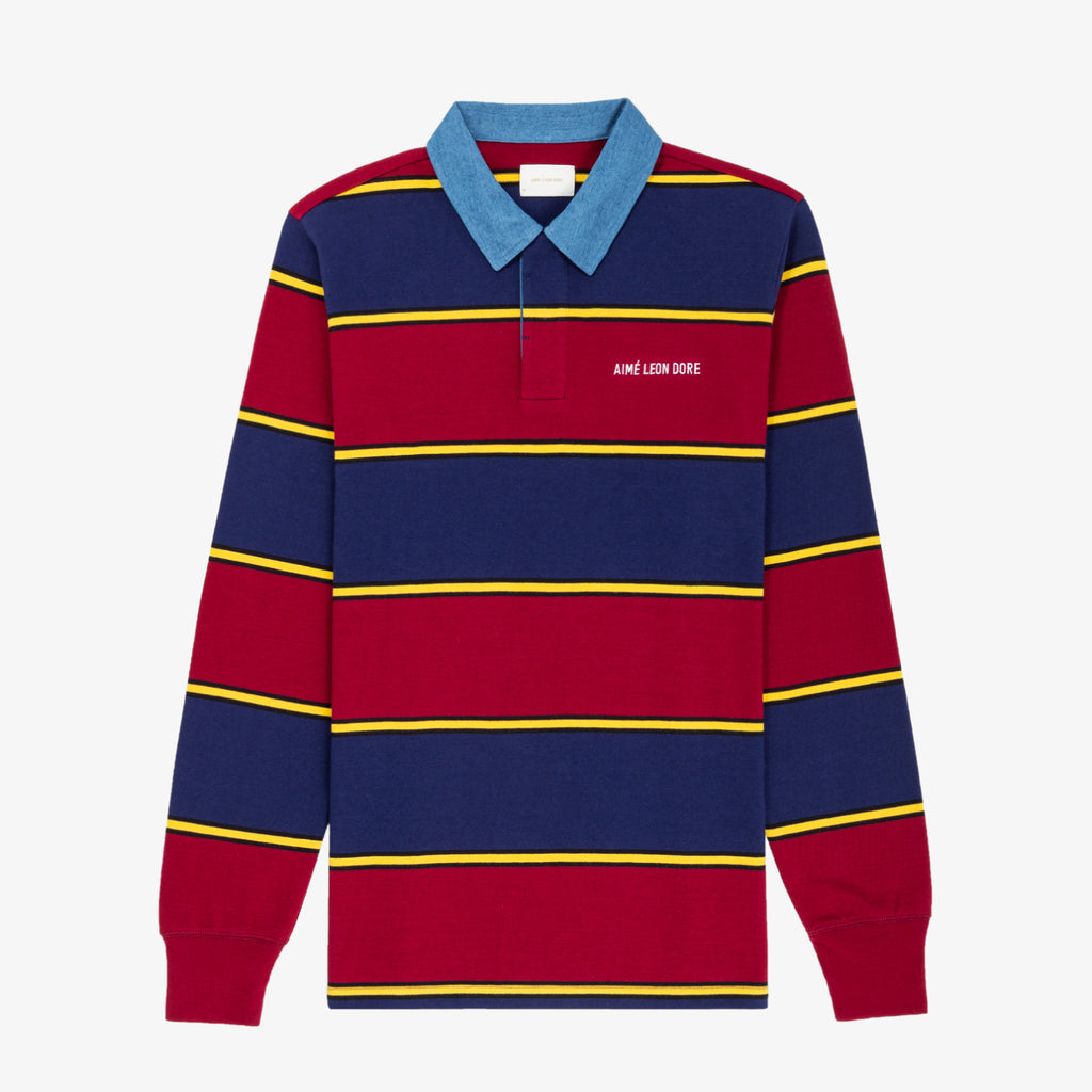 STRIPED LOGO RUGBY