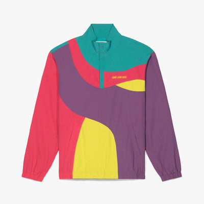 COLOR-BLOCKED NYLON PULLOVER - PURPLE - Outerwear Aimé Leon Dore