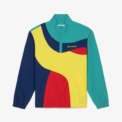 COLOR-BLOCKED NYLON PULLOVER - YELLOW - Outerwear Aimé Leon Dore